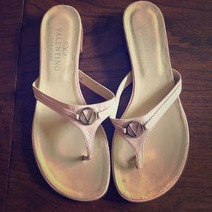 Valentino Pink Thong Sandals
